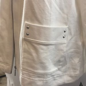 Karen Scott Jackets & Coats - Karen Scott Sport White Jacket Pockets NWT